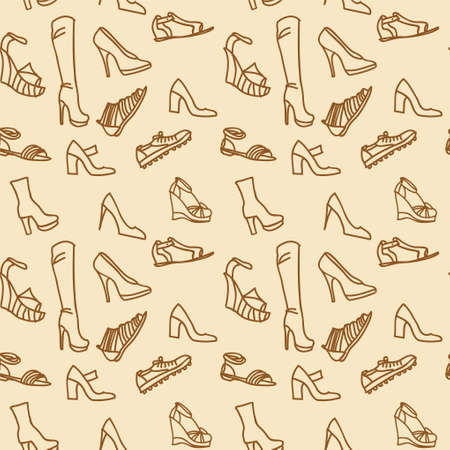 seamless texture shoes, brown background