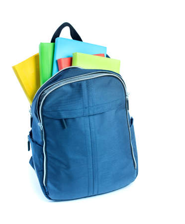 School bag with things for school
