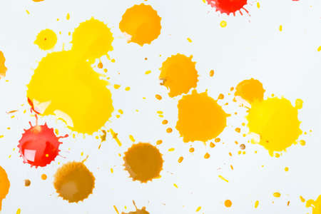 fleck: drops of ink on a white background