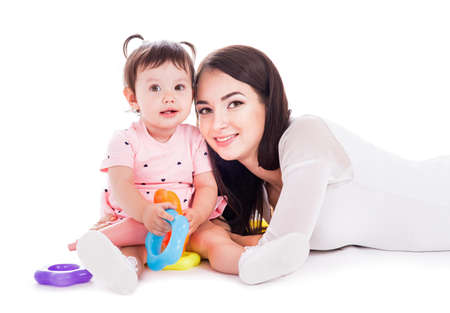 mom: Mom and baby of fifteen months of age