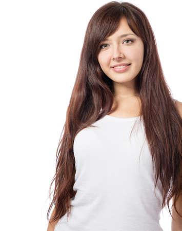 skin art: Face of a beautiful young girl Stock Photo