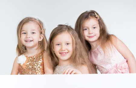 three children: Three Children girl in studio