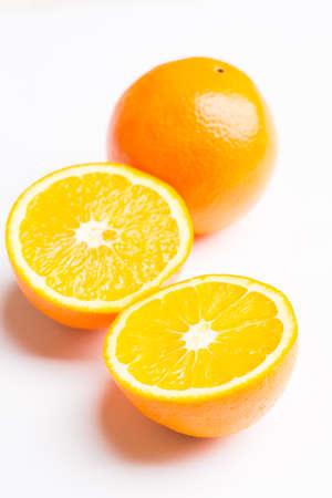 orange sliced on a white background Stock Photo