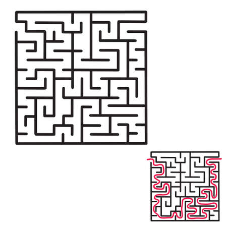 pathfinder: Childrens maze game with an answer