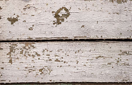Grunge peeling Antique white paint Wooden Background texture floor or wall surface