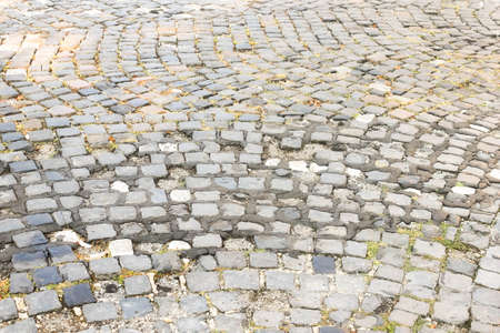 Pavement of granite in the small town Ruhland in the state Brandenburg, Germany