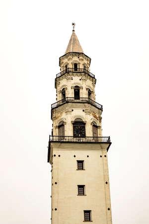 Nevyansk leaning falling belfry Tower 写真素材