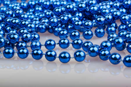 blue christmas beads photo