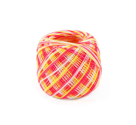 weave ball: ball of yarn isolated on white background