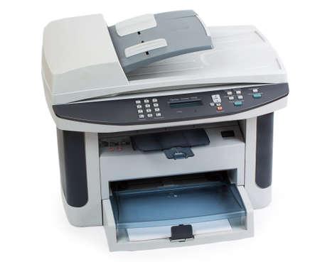 현대 디지털 프린터 화이트 절연 스톡 콘텐츠