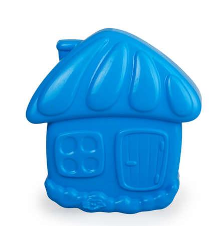 sand mold: blue plastic molding sand isolated on white