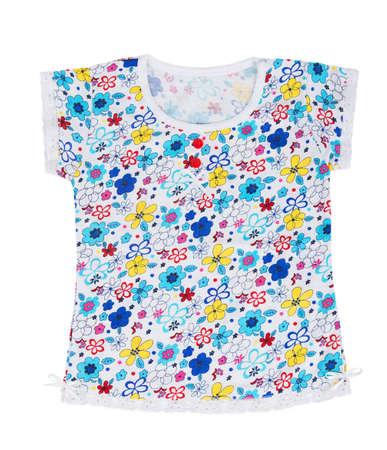 Childrens сotton T-shirt isolated on white background photo