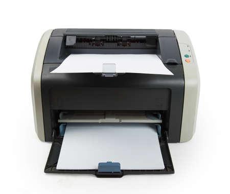 xerox: Modern printer isolated on white background Stock Photo