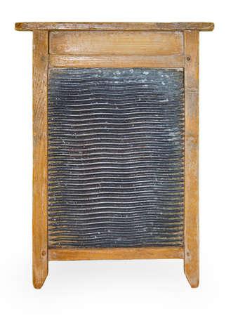 washboard: Wooden washboard isolated on white background Stock Photo