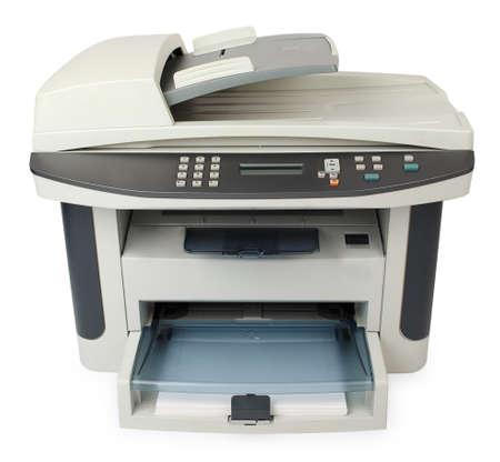 multifunction: Modern digital printer isolated on white background