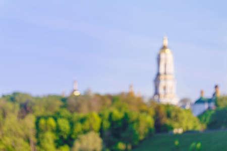 kyiv: Orthodox Christian monastery - Kiev Pechersk Lavra in Kiev on green hills of Pechersk