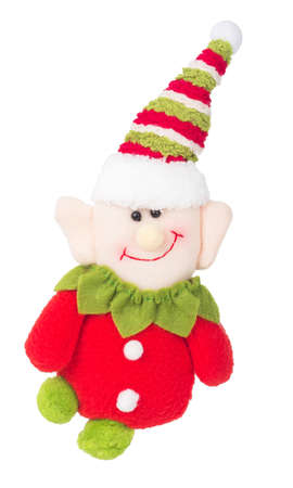 troll: christmas elf gnome troll decoration isolated on white background