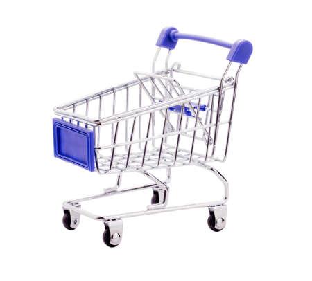 empty shopping cart: empty shopping cart, isolated on white