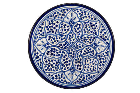 Oriental Tunisian Plate isolated on white background