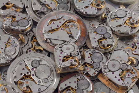 mechanisms: Background of old watches mechanisms with gears
