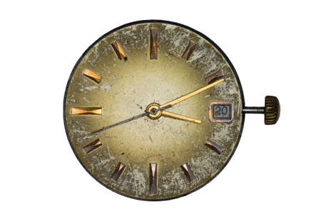 isoleted: Old clock dial isoleted on white background