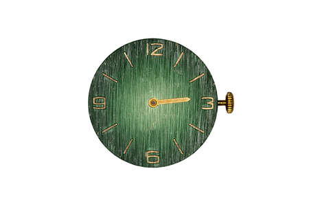 whitw: isolated grunge watch dial on whitw background