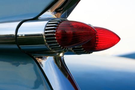 American classic car bullet style tail lights  photo