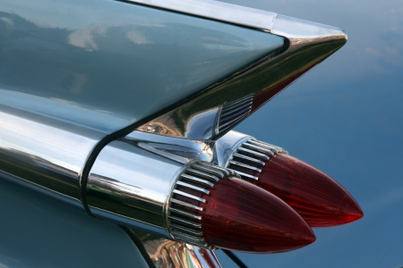 American classic car tail light photo
