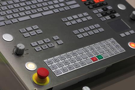 machining center: Operation panel of modern CNC machining center.