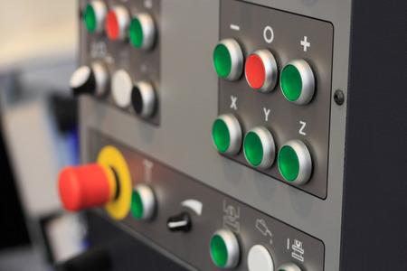 machining center: Control panel of CNC machining center. Closeup view.