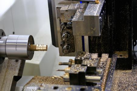 milling center: CNC turning and milling horizontal machine center. Stock Photo