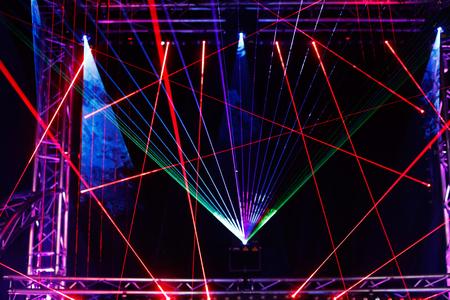 Laser light show on the club stage. Standard-Bild