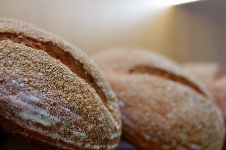 Traditional whole grain sourdough bread. Selective focus. Standard-Bild - 118983815