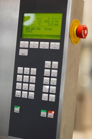Control panel for modern laboratory equipment. Selective focus.