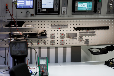 Workplace in the testing and quality control lab.