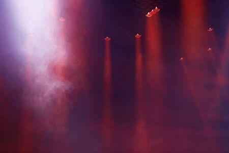 Red stage lights and smoke on live concert. Reklamní fotografie