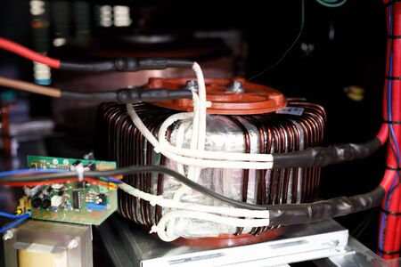 Power supply unit for industrial equipment. Selective focus. Reklamní fotografie