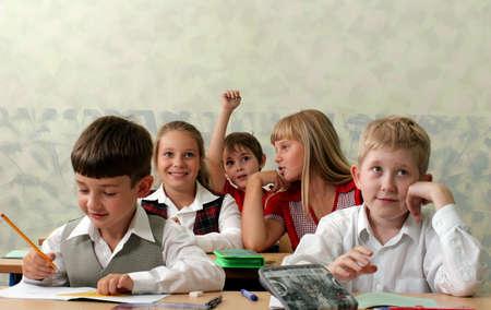 Pupils at classroom photo
