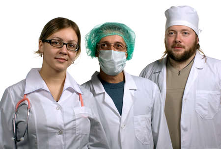 pediatrist: Three doctors. Isolated