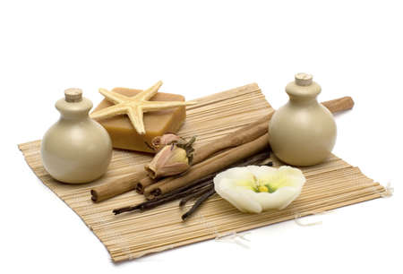 Objects for massage, spa and aromatherapy. Stock Photo - 2301209