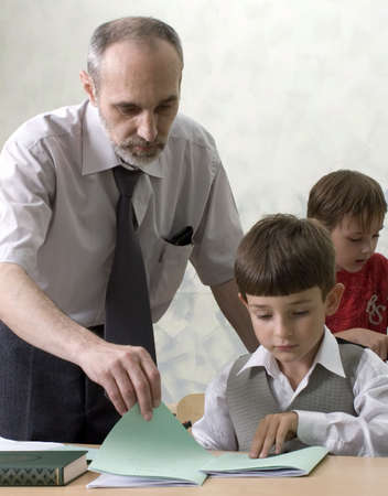 The teacher and the pupils Stock Photo - 2336717