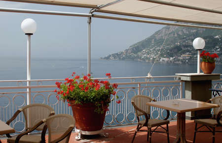 Restaurant view. Italy.  photo