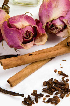 traquility: Dry flowers and spices.