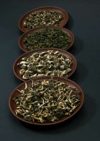 indigenous medicine: Assortment of green teas