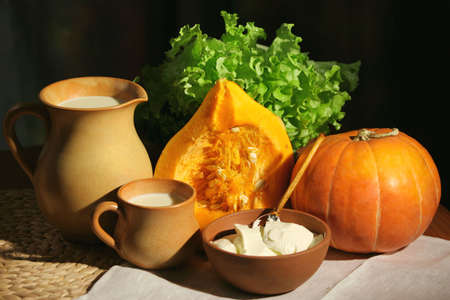 Pumpkin, milk  and sour cream  Stock Photo - 3763799