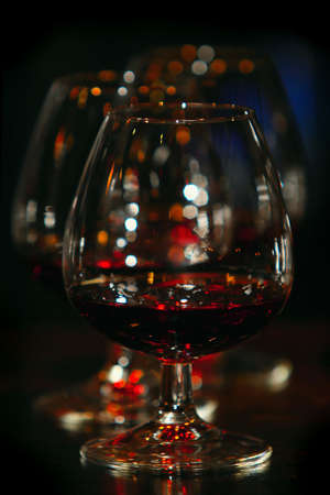 sniffer: glasses of brandy