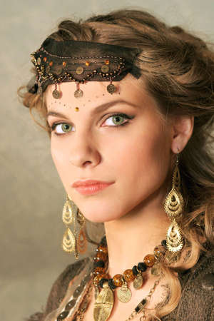 Beautiful oriental looking girl. Stock Photo - 3824458