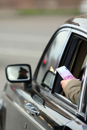 bribing: Bribe on road.The Russian reality