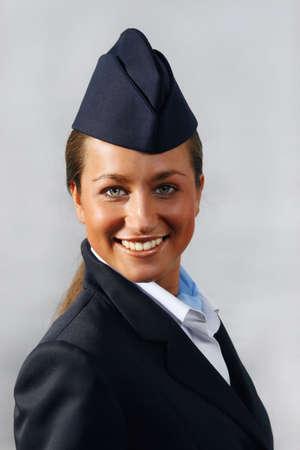 air hostess: H�tesse de l'air (h�tesse de l'air). Portrait