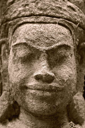 bas: Bas relief in Angkor Vat